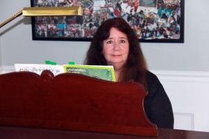 Andrea Kaiser at her Baldwin piano