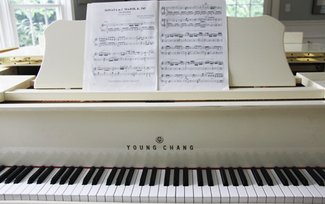 The Young Chang piano. Its action is perfect for student playing